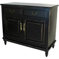 Wayborn Buffet Cabinet in Distressed Antique Black ...