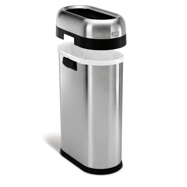 Simplehuman 13.2 Gallon Stainless Steel Trash &