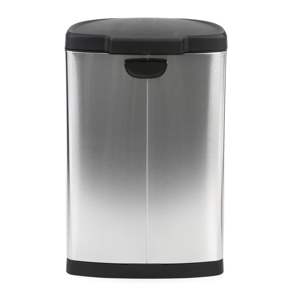 Simplehuman 40 L 10.5 Gallon Semi Step Trash In Stainless Steel &