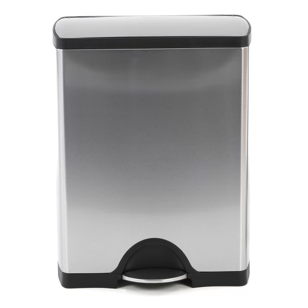 Simplehuman 13.2 Gal. Rectangular Step Stainless Steel