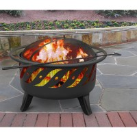 Landmann Patio Lights Wood Burning Fire Pit & Reviews ...