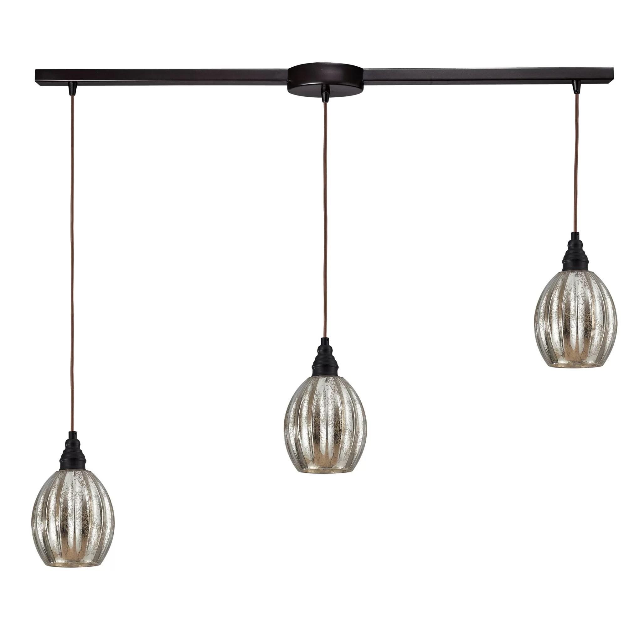 3 light kitchen island pendant cost to replace cabinets elk lighting danica wayfair