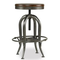 Hooker Furniture Wendover Adjustable Height Swivel Bar ...