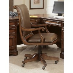 Swivel Chair High Back Office Waiting Chairs Hooker Furniture Leather Executive