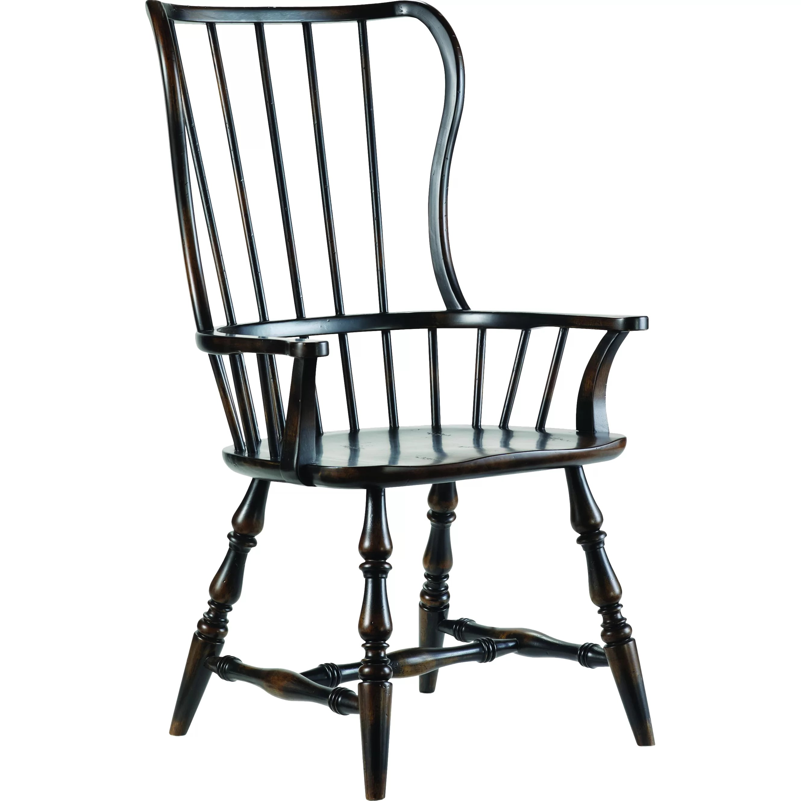 Spindle Dining Chairs Hooker Furniture Sanctuary Spindle Back Arm Chair