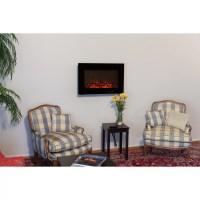 Fire Sense Wall Mount Electric Fireplace & Reviews   Wayfair