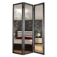"Screen Gems 69"" X 50"" Mirror 3 Panel Room Divider | Wayfair"