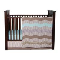 Trend Lab Cocoa Mint 3 Piece Crib Bedding Set & Reviews ...