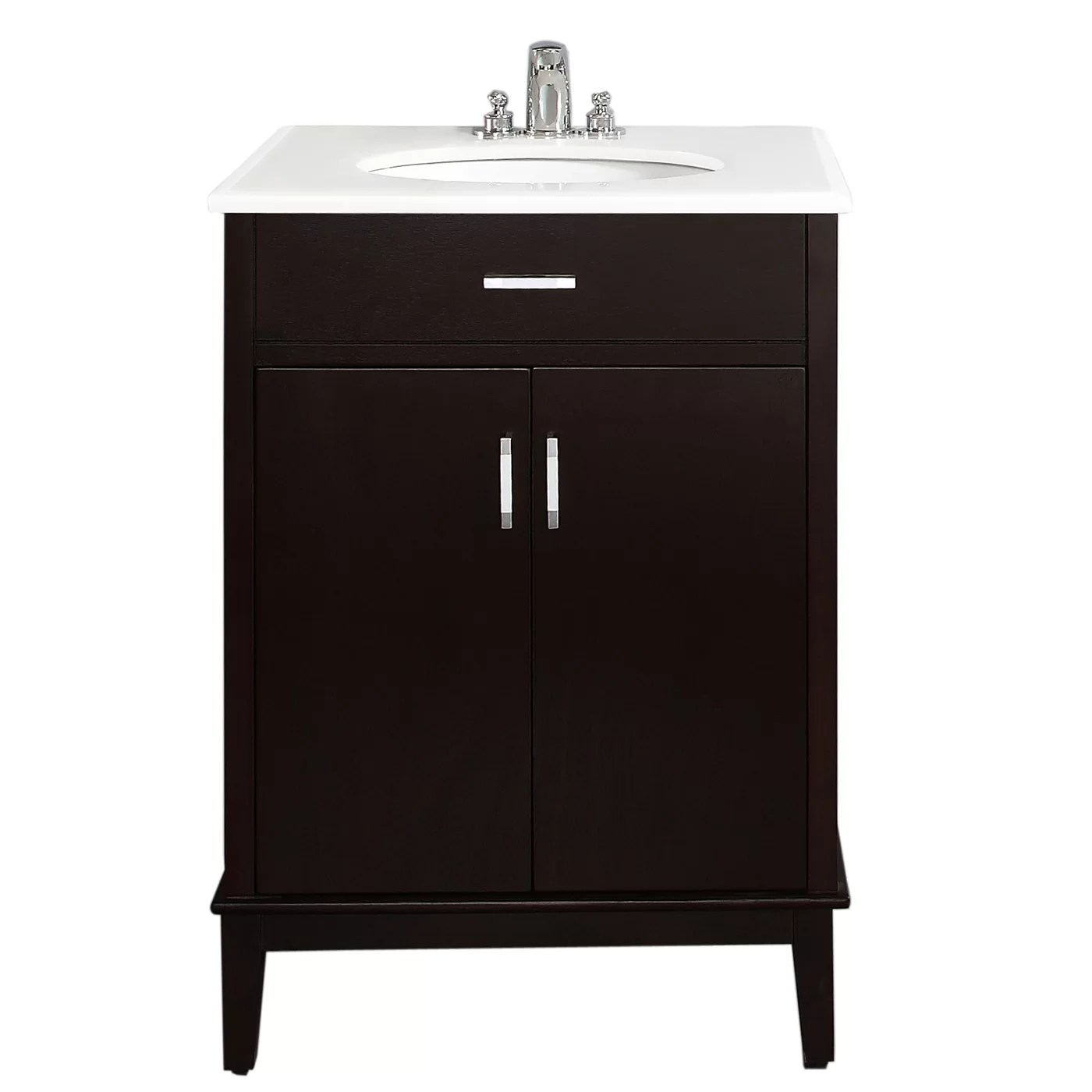 Simpli Home Urban Loft 25 Single Bathroom Vanity Set  Reviews  Wayfairca