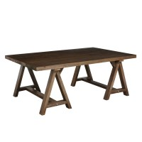 Simpli Home Sawhorse Coffee Table & Reviews | Wayfair