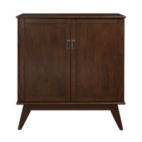 Simpli Home Draper Mid Century Medium Storage Cabinet ...