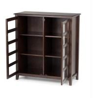 Simpli Home Burlington Medium Storage Cabinet & Reviews ...