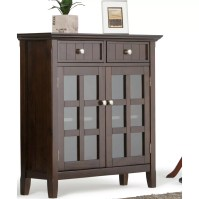 Simpli Home Acadian 2 Drawer Entryway Storage Cabinet