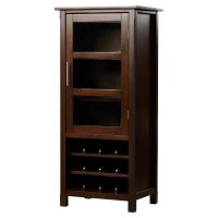 Simpli Home Avalon Bar Cabinet with Wine Storage & Reviews ...