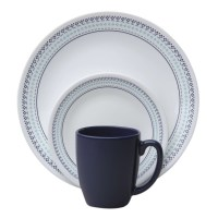 Corelle Livingware Folk Stitch 16 Piece Dinnerware Set ...