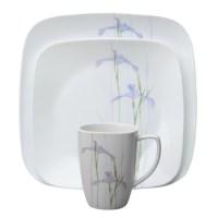 Corelle Impressions Shadow Iris Square 16 Piece Dinnerware ...