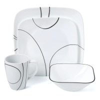 Corelle Simple Lines 16 Piece Dinnerware Set & Reviews ...