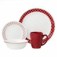 Corelle Livingware Crimson Trellis 16 Piece Dinnerware Set ...