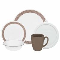 Corelle Livingware Sand Sketch 20 Piece Dinnerware Set ...