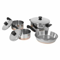 Revere Cookware 1400 Line Stainless Steel 7 Piece Cookware ...