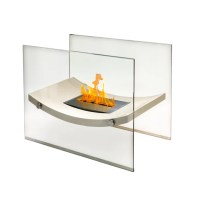 Anywhere Fireplaces Glass Bio-Ethanol Fire Pit Table ...