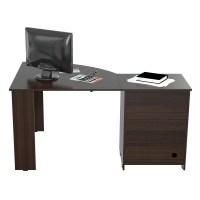 Inval Computer Desk with Shelf & Reviews