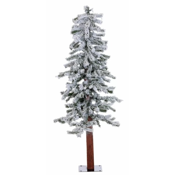 Vickerman 439 Flocked Alpine White Artificial Christmas
