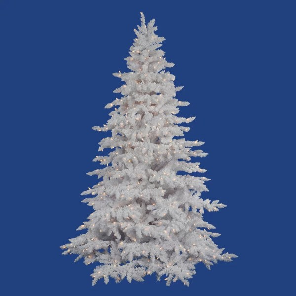 Vickerman Flocked White Spruce 4539 Artificial Christmas