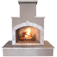 CalFlame Propane Gas Outdoor Fireplace & Reviews