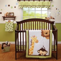 Little Bedding Jungle Pal 3 Piece Crib Bedding Set ...