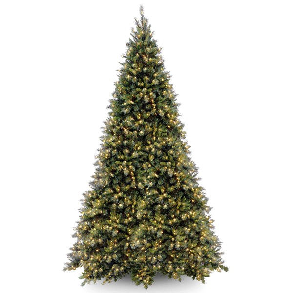National Tree . Tiffany Fir 12' Green Artificial Christmas With 1400 Clear Lights And