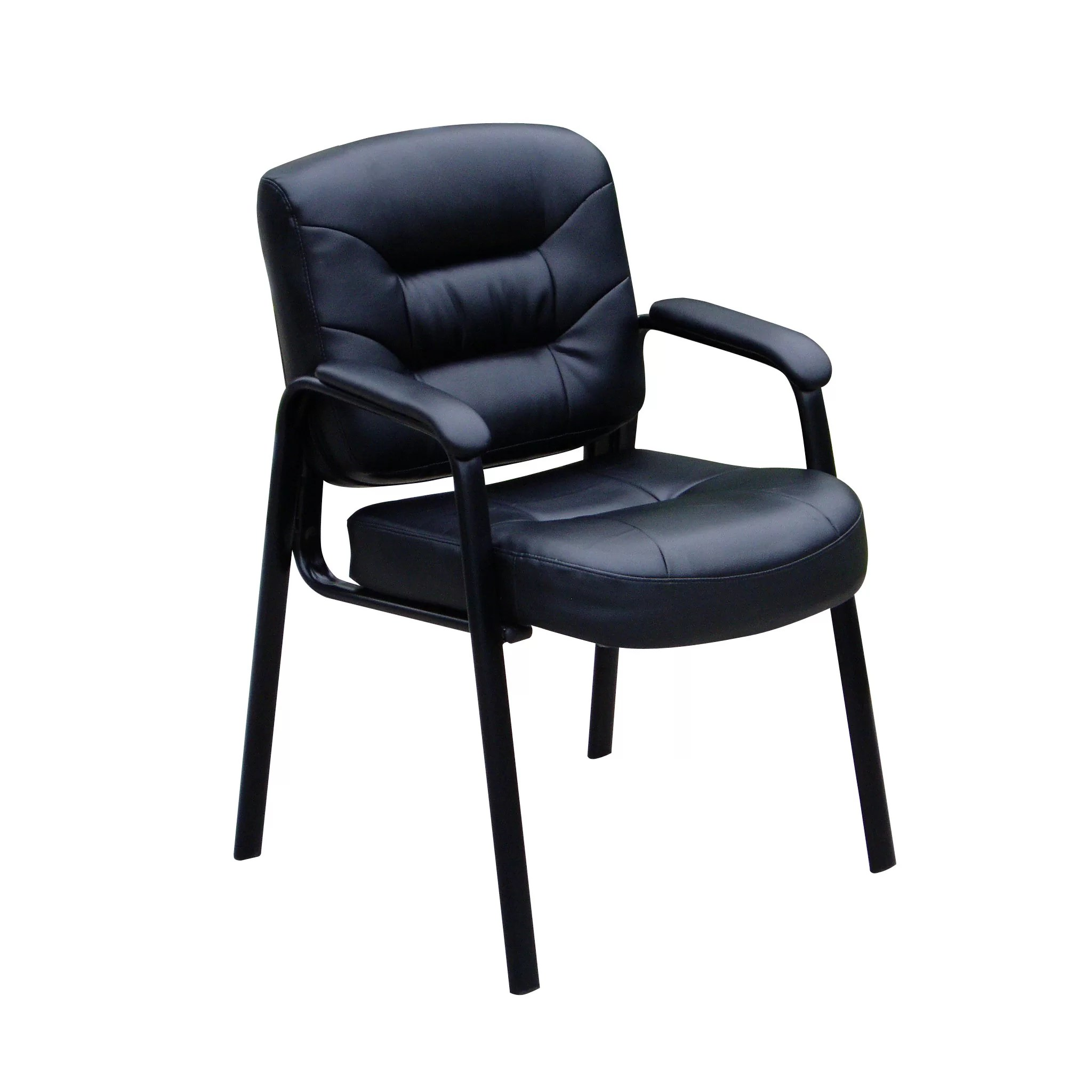 Boss Office Products Leather Guest Chair  Reviews  Wayfair