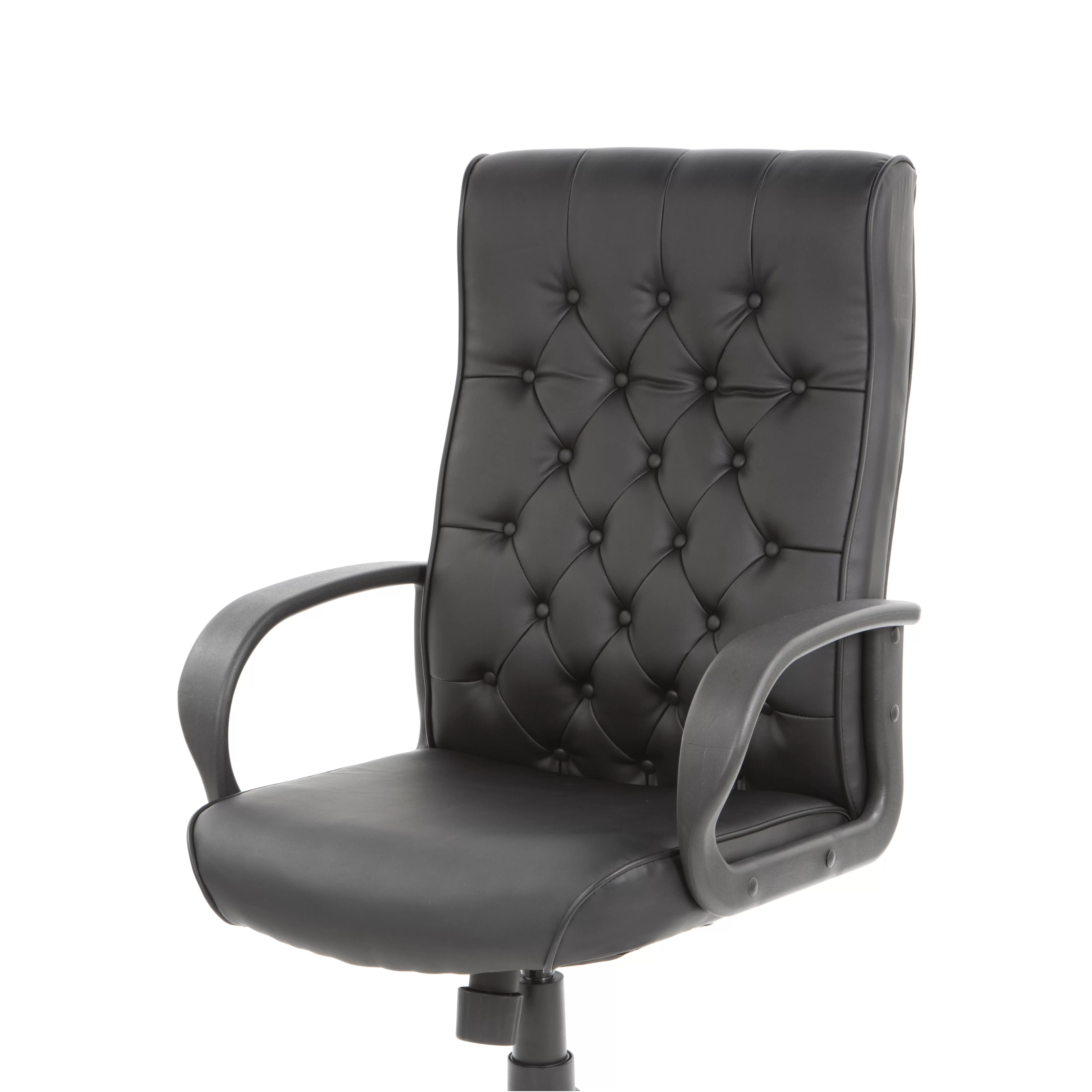 high back tufted chair diy cushion with piping boss office products adjustable button