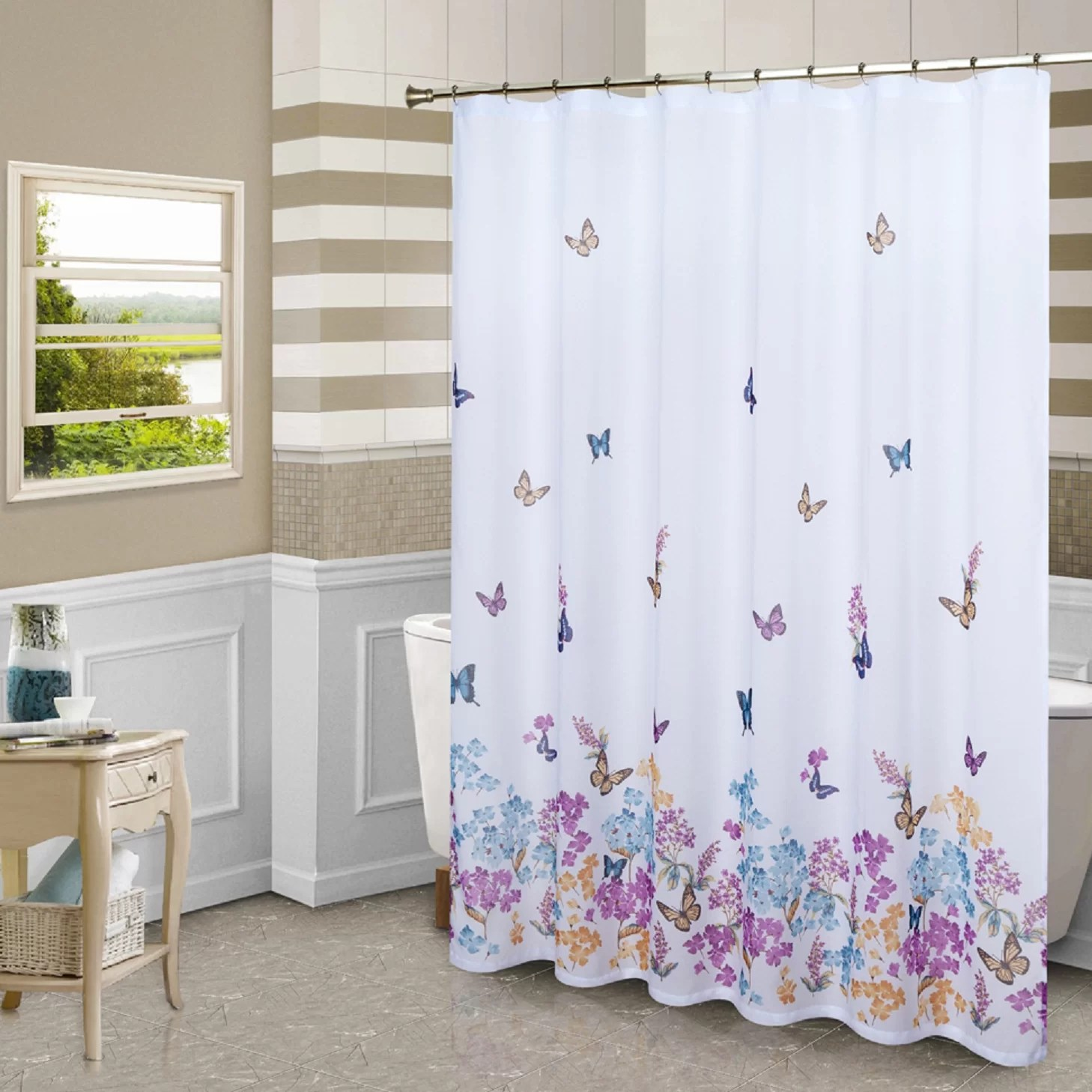 United Curtain Co Butterfly Shower Curtain  Reviews