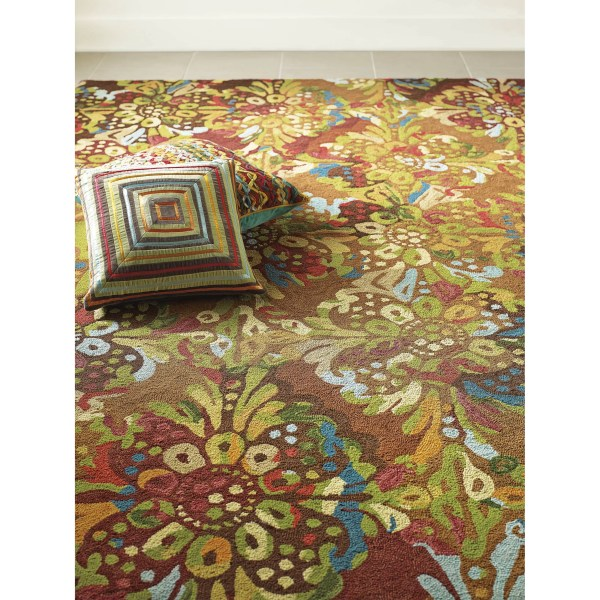 Company Drip And Splash Toffee Area Rug