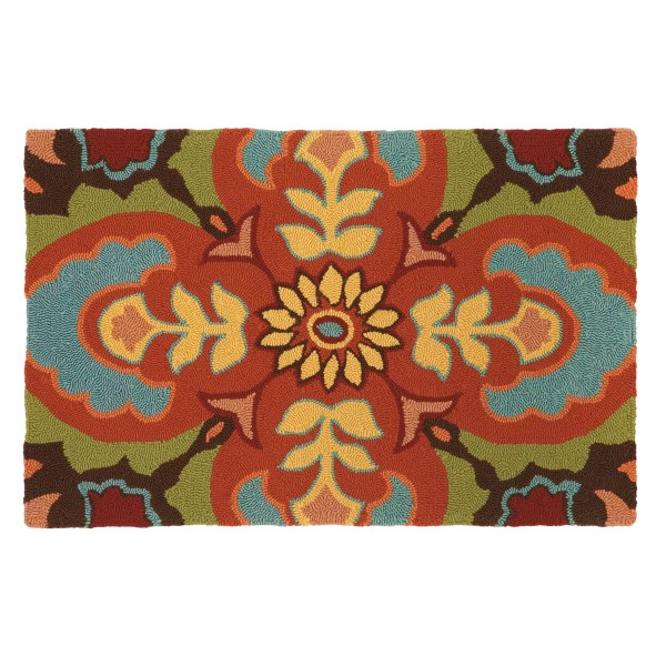 Company Talavera Tile Chocolate Area Rug &