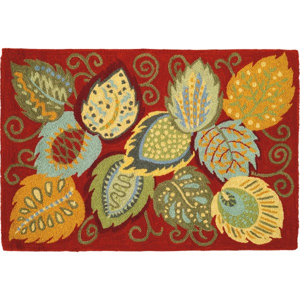 Company Foliage Red Area Rug &