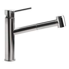 Kitchen Faucet Pull Out Stainless Steel Wall Panels Commercial Alfi Brand With Spray And Reviews