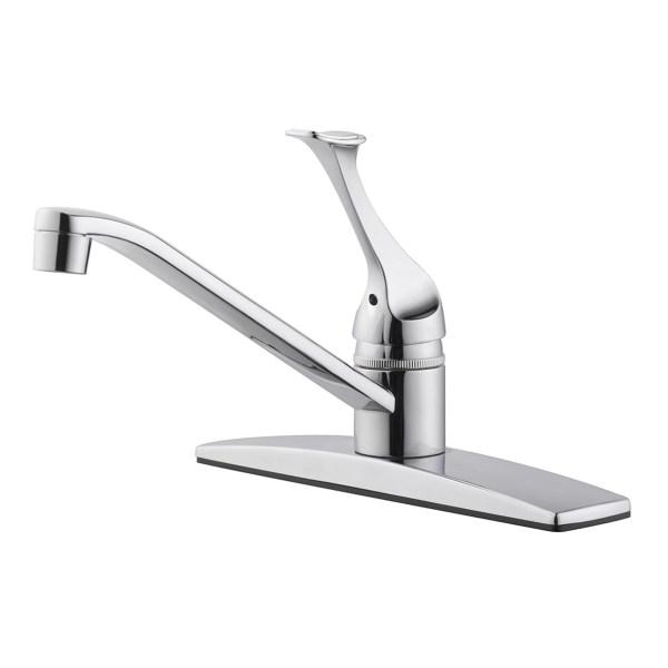 single hole kitchen faucet with side spray Design House Millbridge Single Handle Single Hole Kitchen