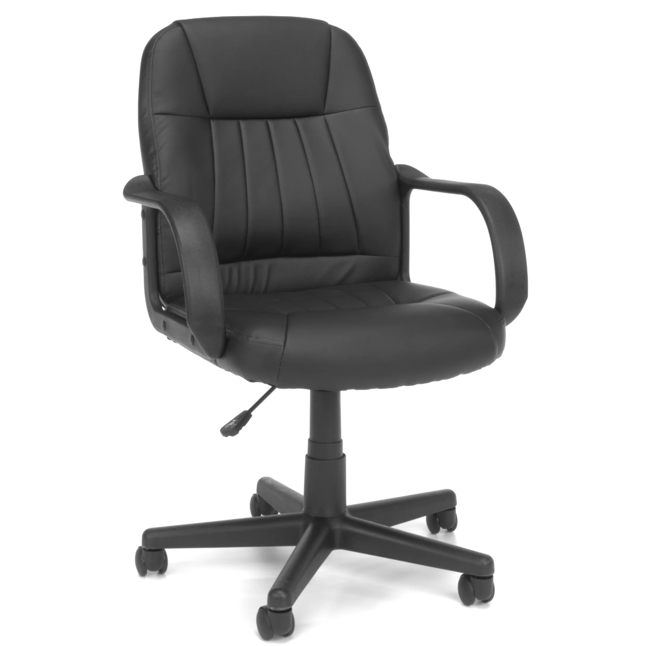 office chair reviews design revolving ofm essentials mid back leather executive