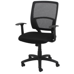 Mid Back Mesh Chair Office Casters For Wood Floors Ofm Essentials Desk With Arms