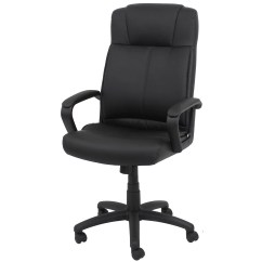 Swivel Office Chair No Arms Covers For Plastic Chairs Ofm Essentials High Back Leather Desk With