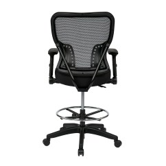 Drafting Office Chair White Ladder Back Chairs Rush Seats Star Space Mid Mesh And Reviews
