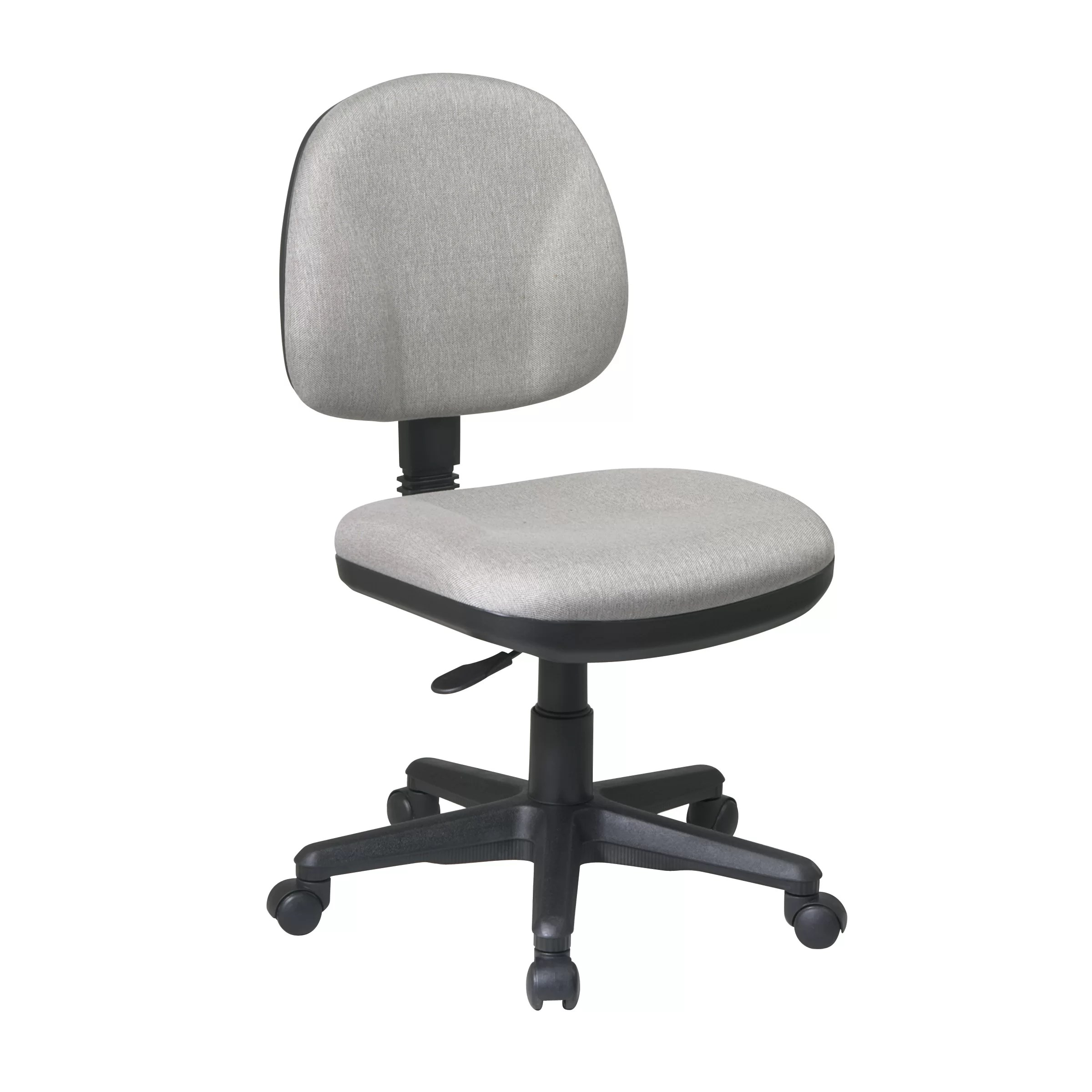 chair without back cast iron table and chairs perth office star sculptured low task arms