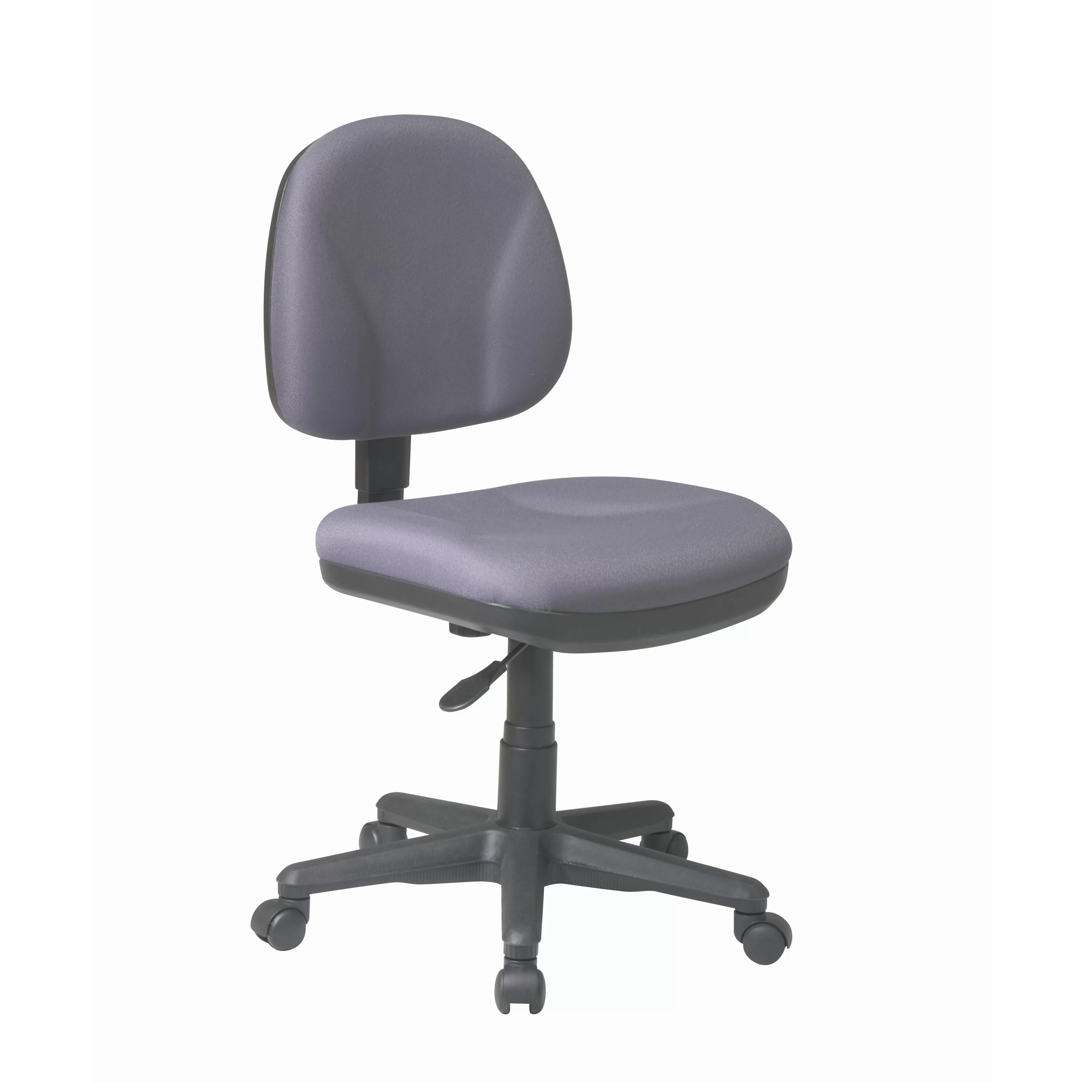 office chair without arms comfy kid chairs star sculptured low back task