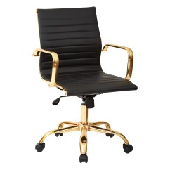 Leather Office Chairs Without Arms White Counter Height Star Mid Back Executive Chair With