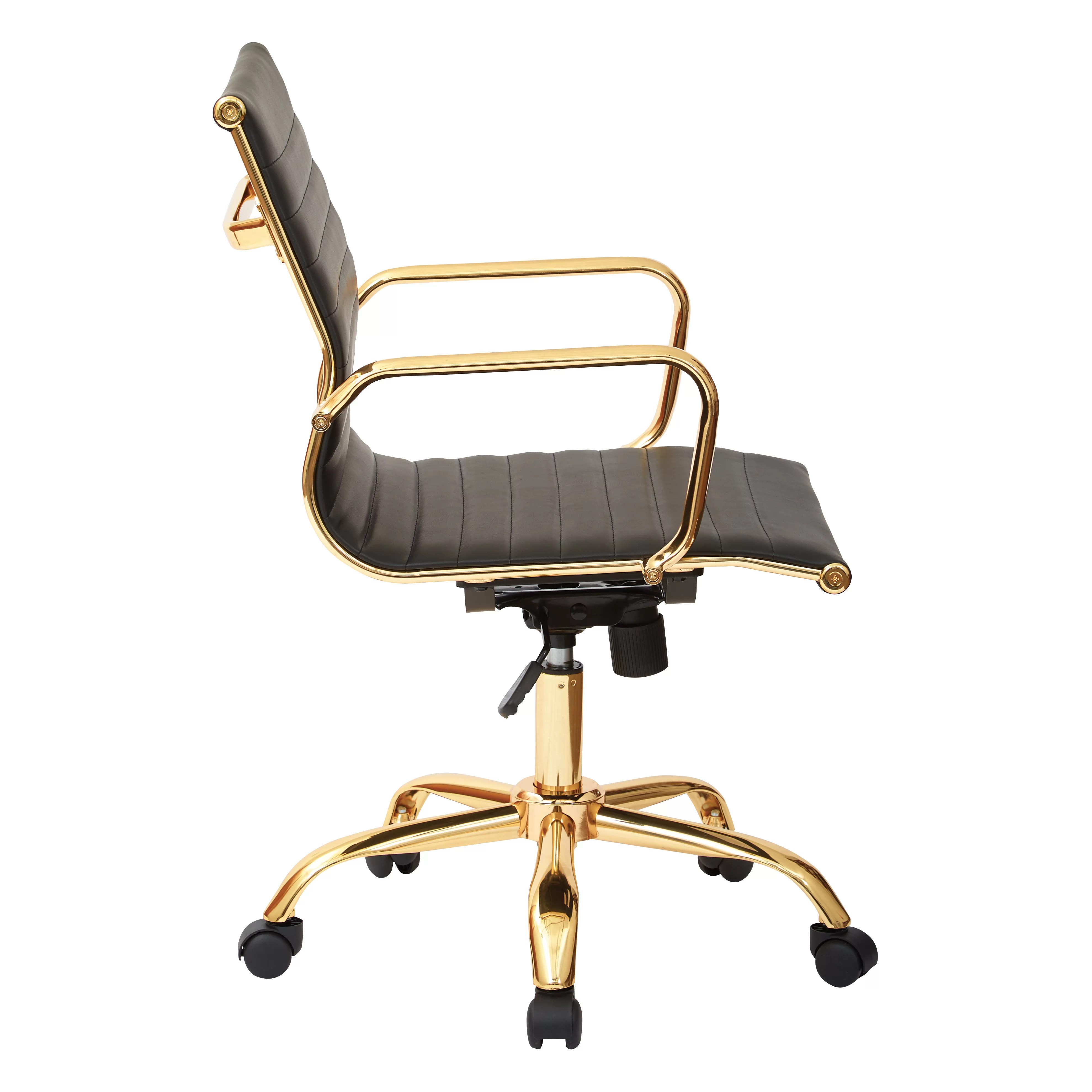 office chair gold bentwood bistro chairs star mid back executive with arms