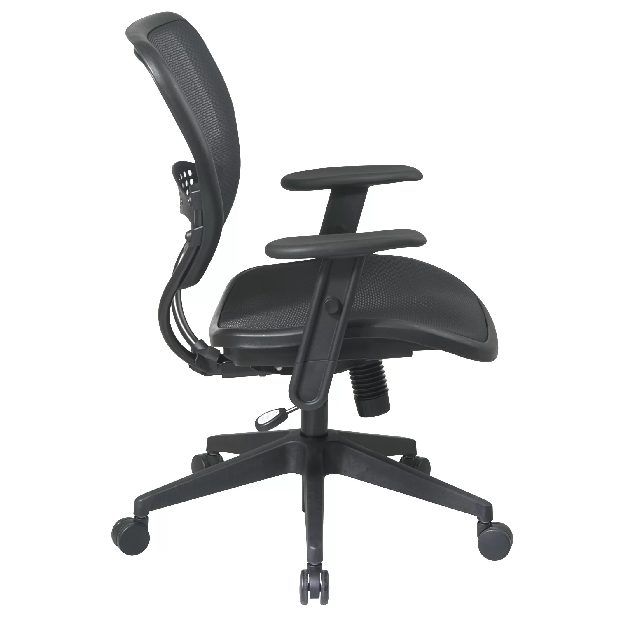 office chair with adjustable arms loveseat folding star space mid back task