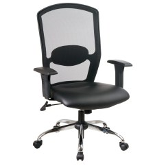 Office Chair Reviews Black Wire Dining Chairs Nz Star Work Smart High Back Mesh Desk And