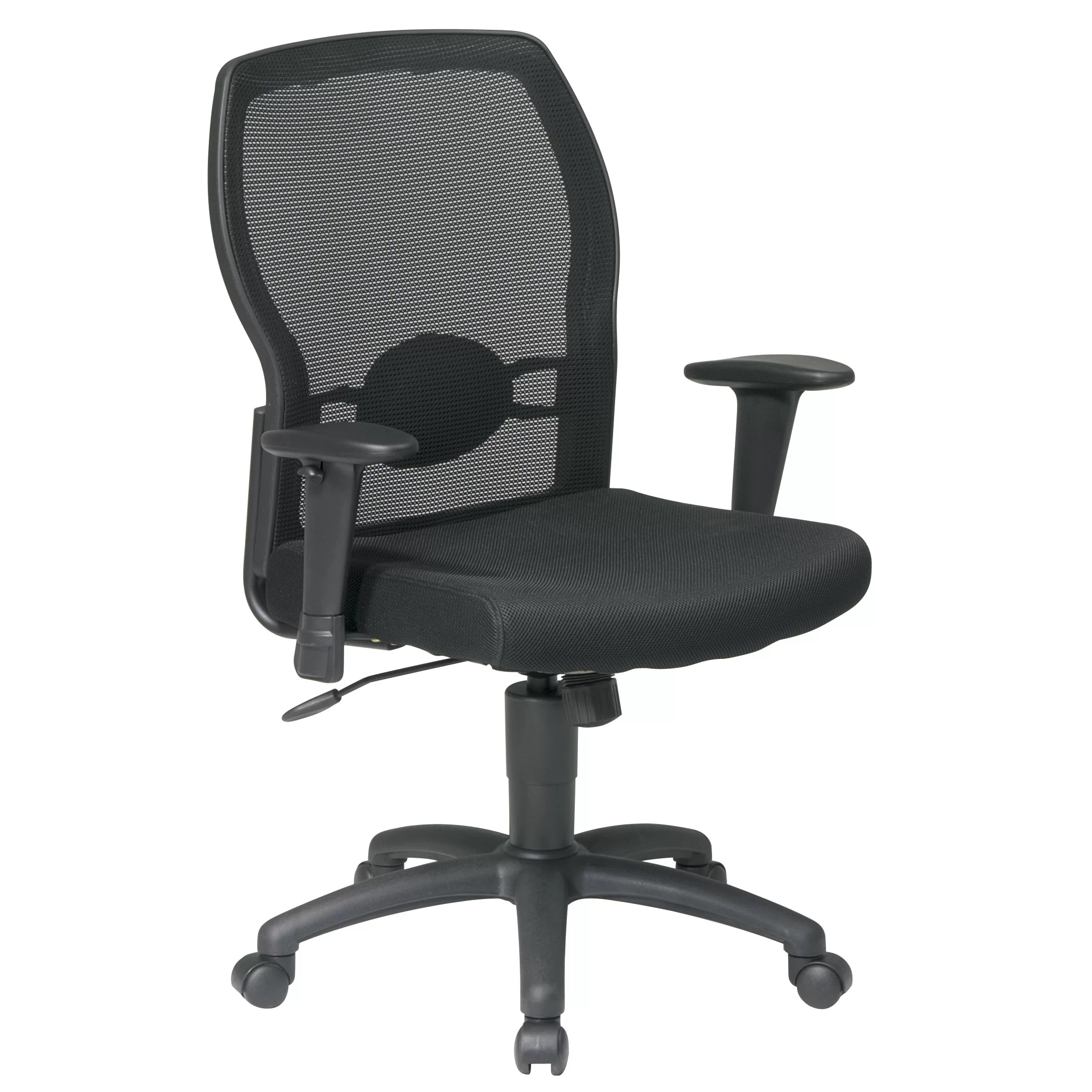 Office Chair With Arms Office Star Mid Back Mesh Office Chair With Adjustable